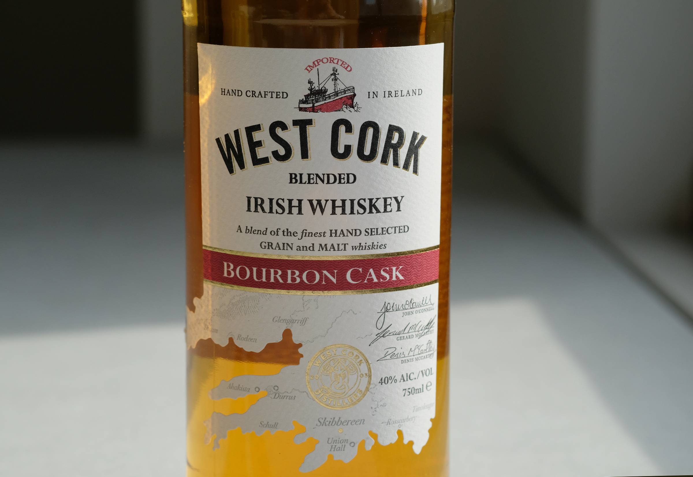 West Cork is a worthy entry level blended whiskey from Ireland.