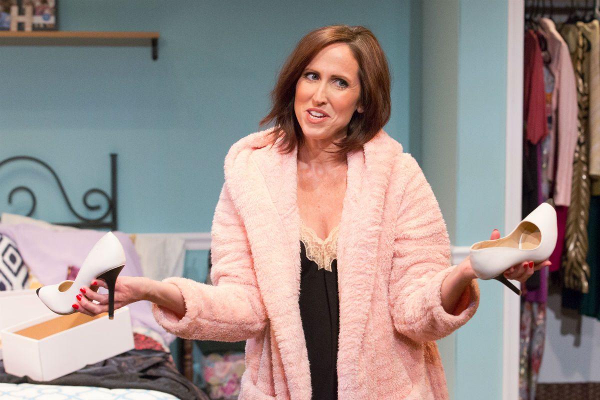 "Karen Peakes stars as Haley in ""Bad Dates,"" through Dec. 31 at Act II Playhouse in Ambler."
