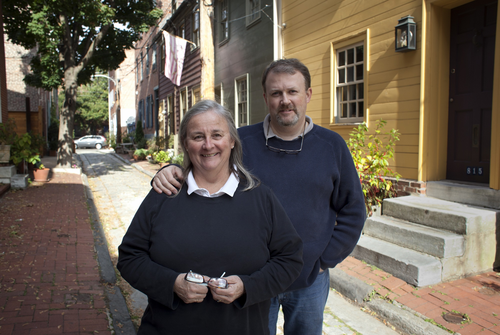 Alison Towers and her husband have lived in a trinity home in Queen Village for more than 30 years.