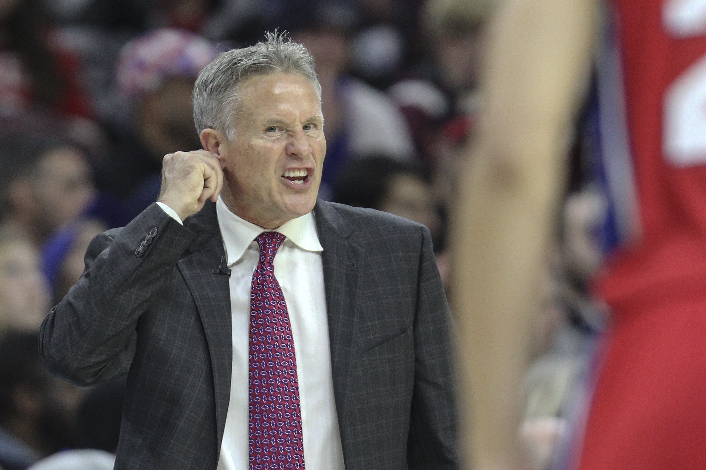 Sixers´ head coach Brett Brown.