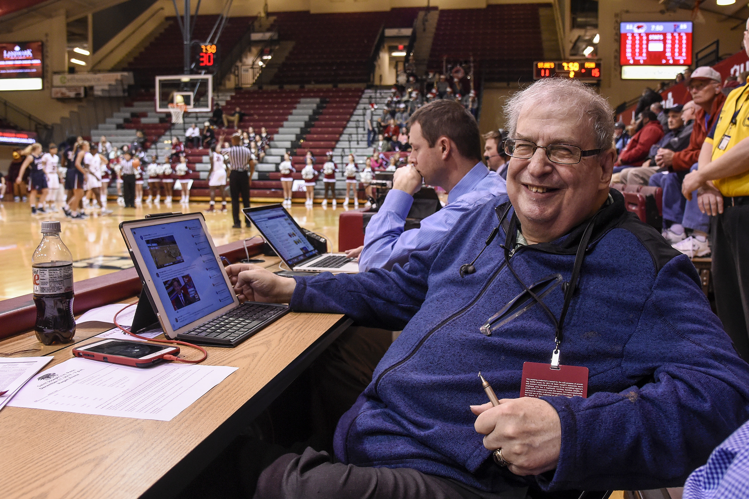 Mel Greenberg covers more games now than when he was a newspaper writer covering the sport.