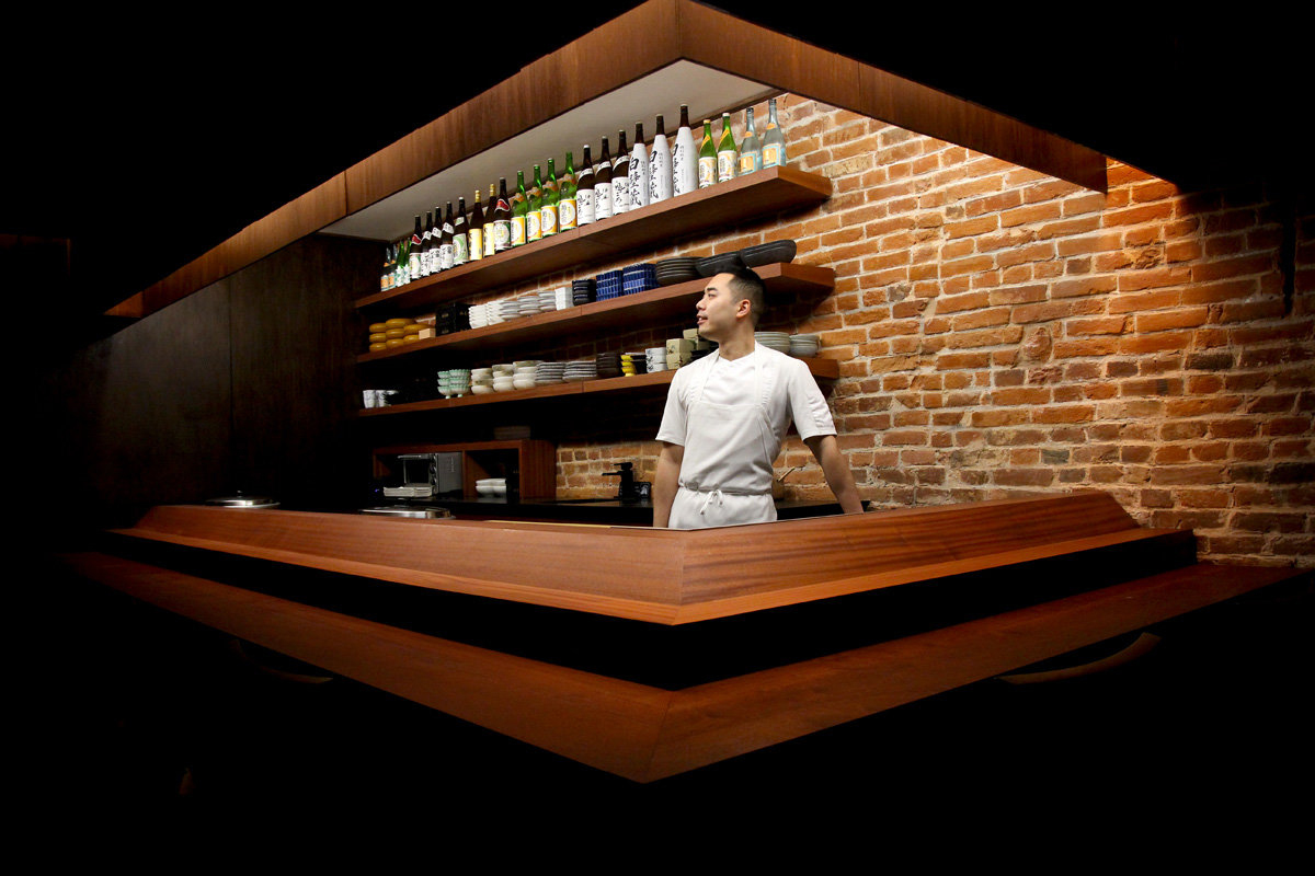 Jesse Ito behind the sushi bar at Royal Izakaya.