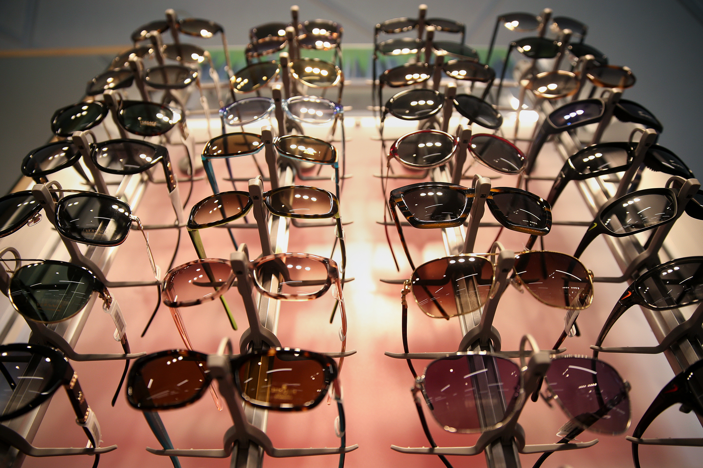 Sunglass frames are on display in the new Wills Eyewear store at Eighth and Arch streets in Center City. The store, which offers optometry appointments and sells glasses, will be joined by another location in Fashion District Philadelphia when it opens next fall.