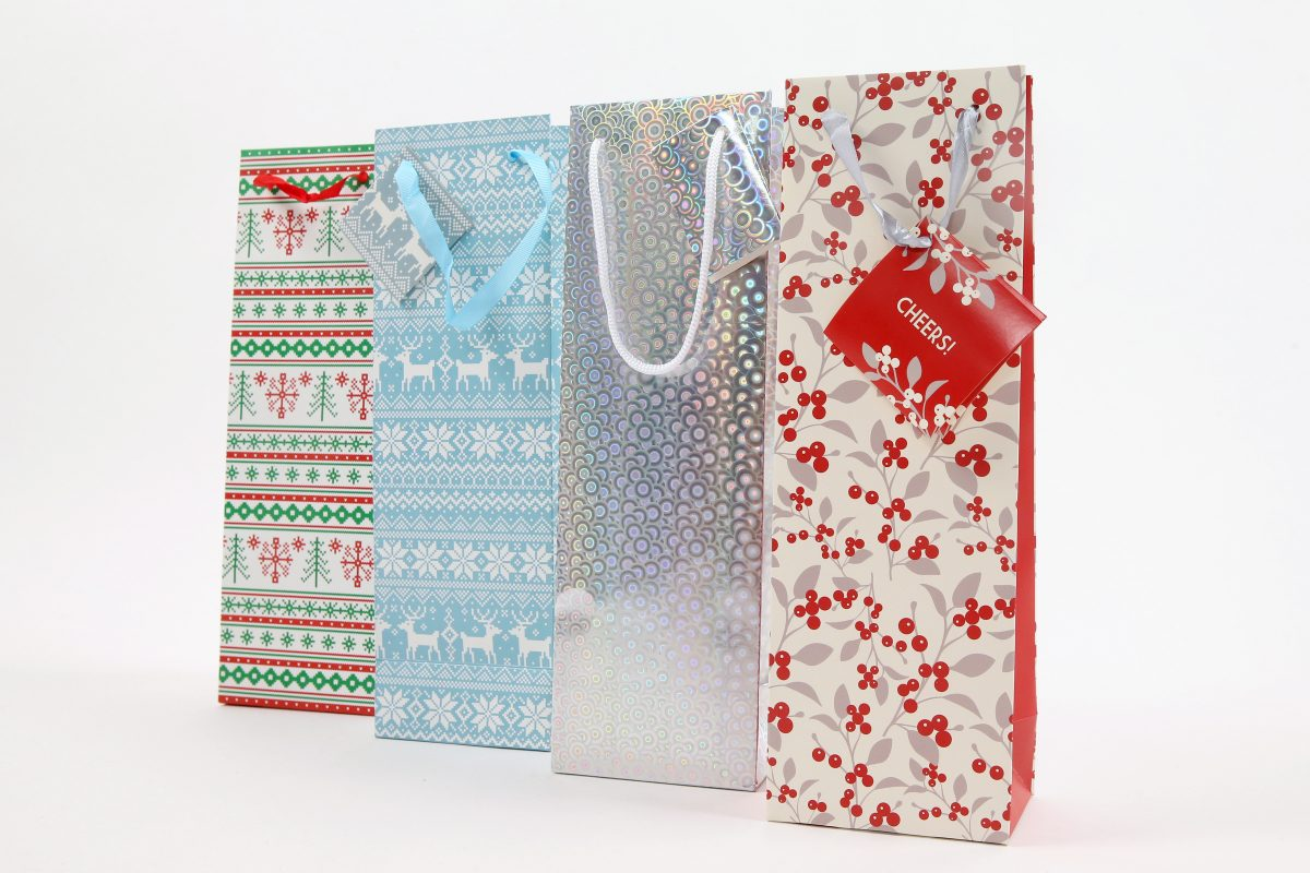 Holiday wine bags from Di Bruno Brothers.
