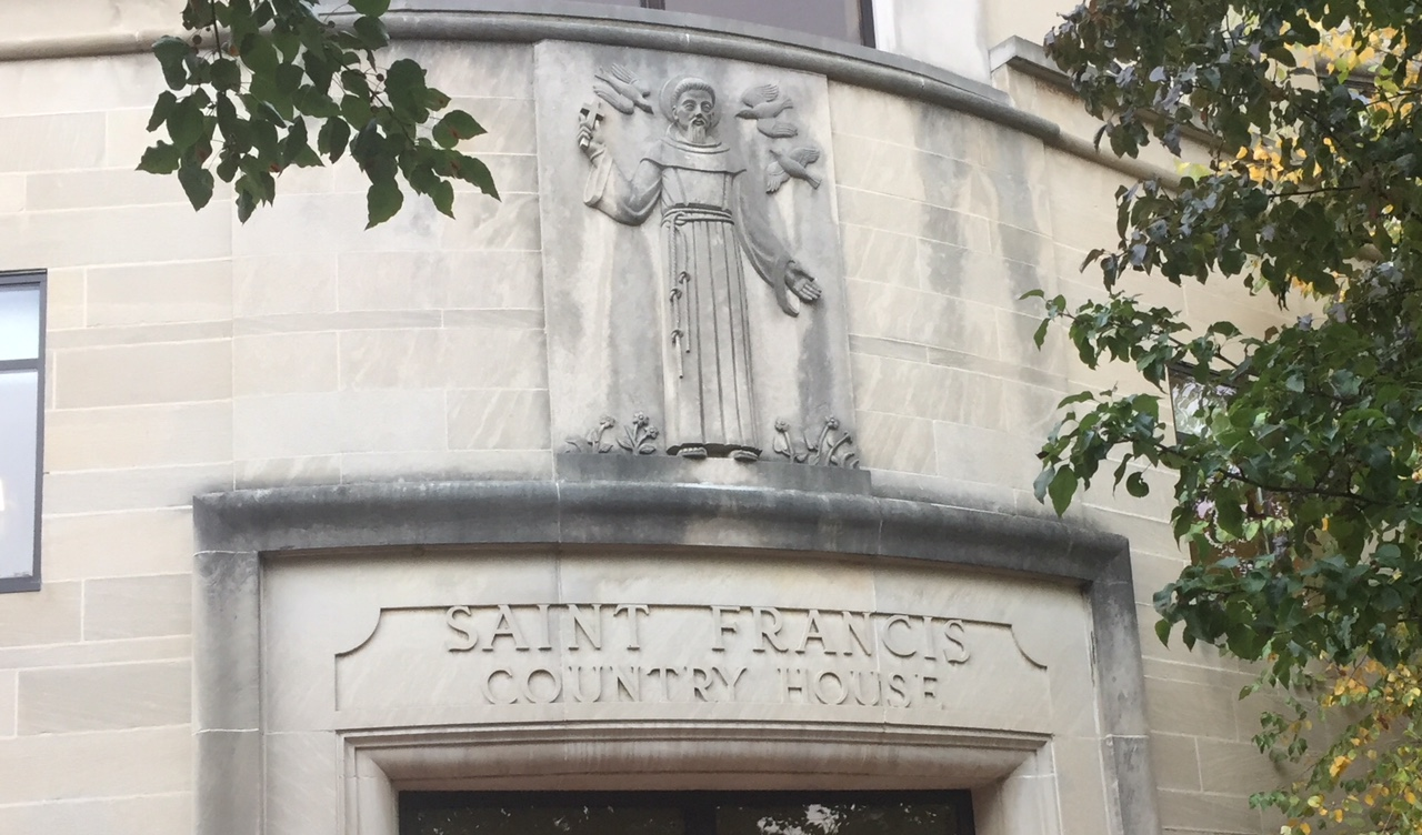 A detail of St. Francis Center for Rehabilitation & Healthcare shows the facility´s name, St. Francis County House, before the Archdiocese of Philadelphia sold it to Center Management Group in 2014.