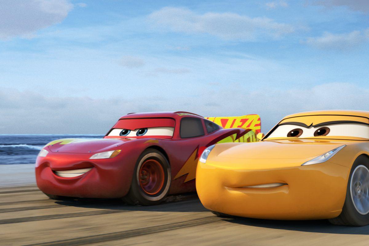 "In ""Cars 3,"" racer Lightning McQueen (left, voiced by Owen Wilson) returns to the big screen, alongside elite trainer Cruz Ramirez (voice of Cristela Alonzo)."