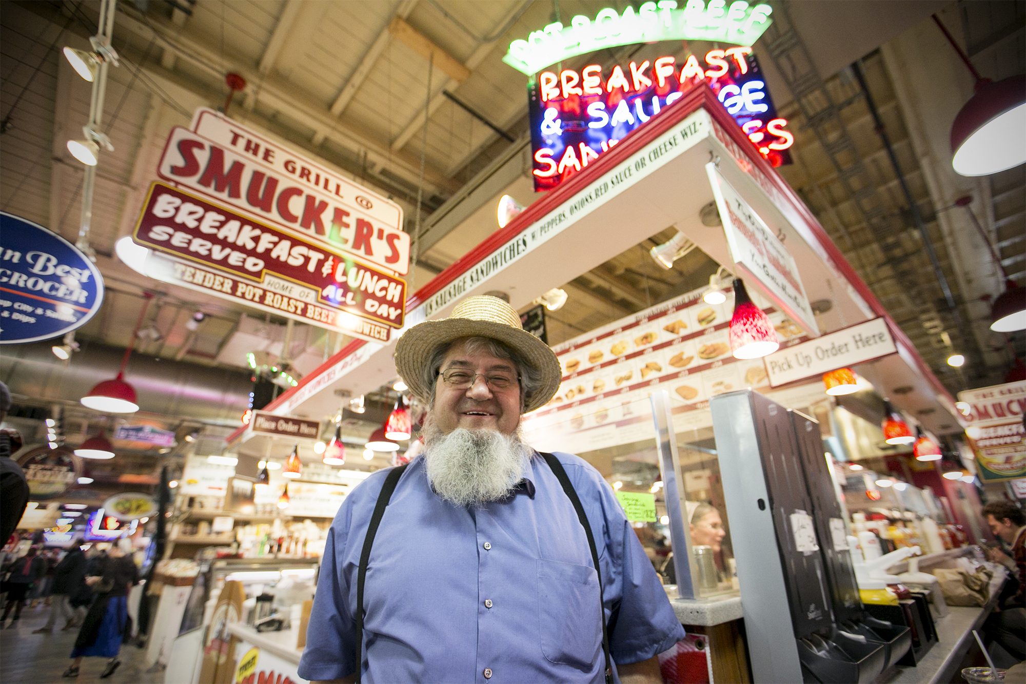 Moses Smucker, owner of The Grill at Smucker´s in Reading Terminal Market.