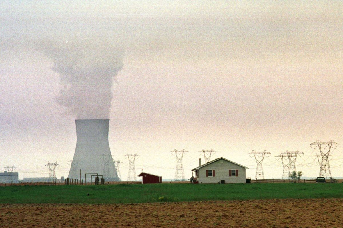 A view of the Salem Nuclear Power Plant cooling tower in South Jersey. Legislation that would authorize $300 million annually to rescue New Jersey´s nuclear energy industry - a request for financial help made by the state´s largest utility company - was signed into law Wednesday.