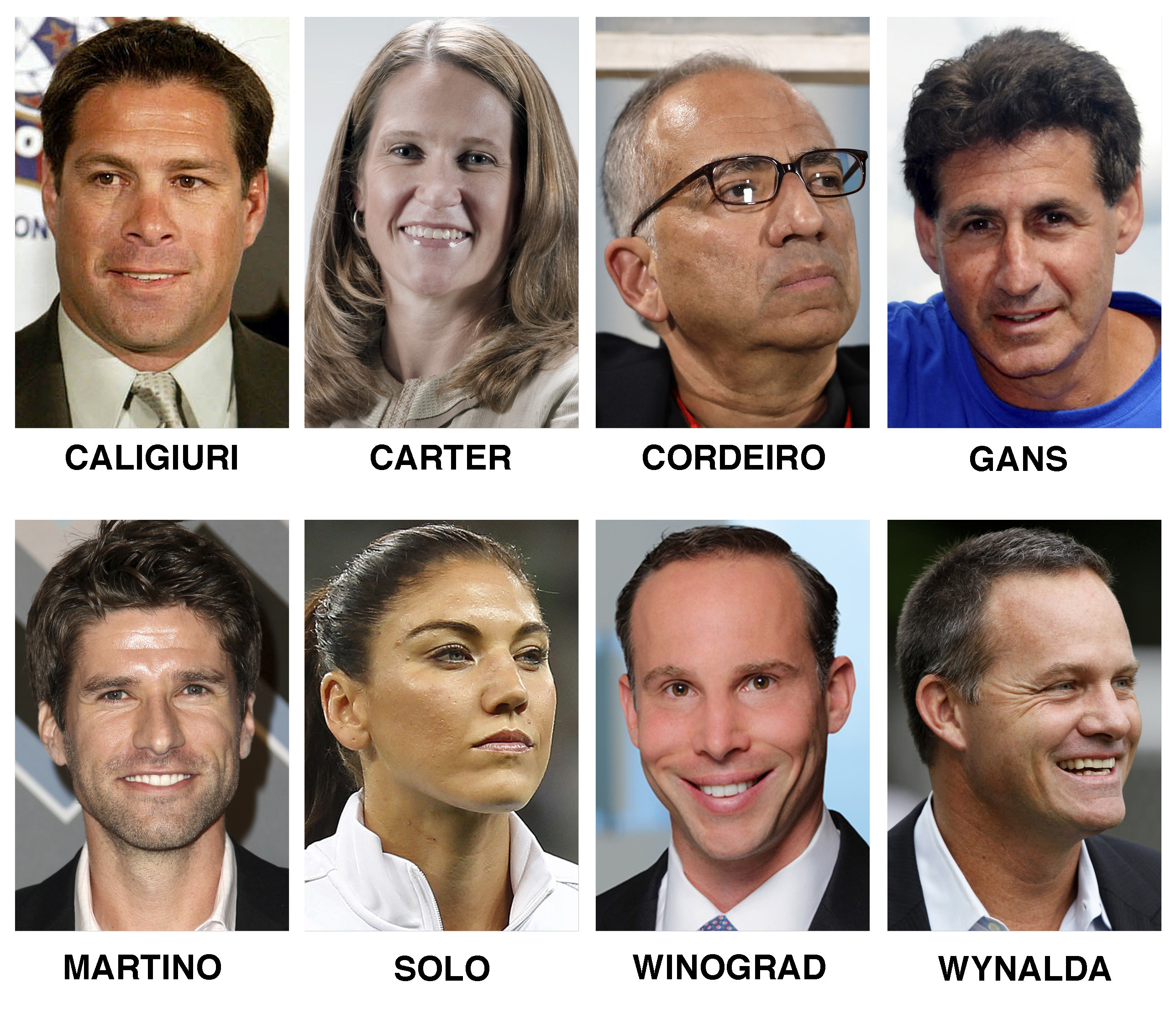 The eight candidates who were formally nominated to run for president of the U.S. Soccer Federation