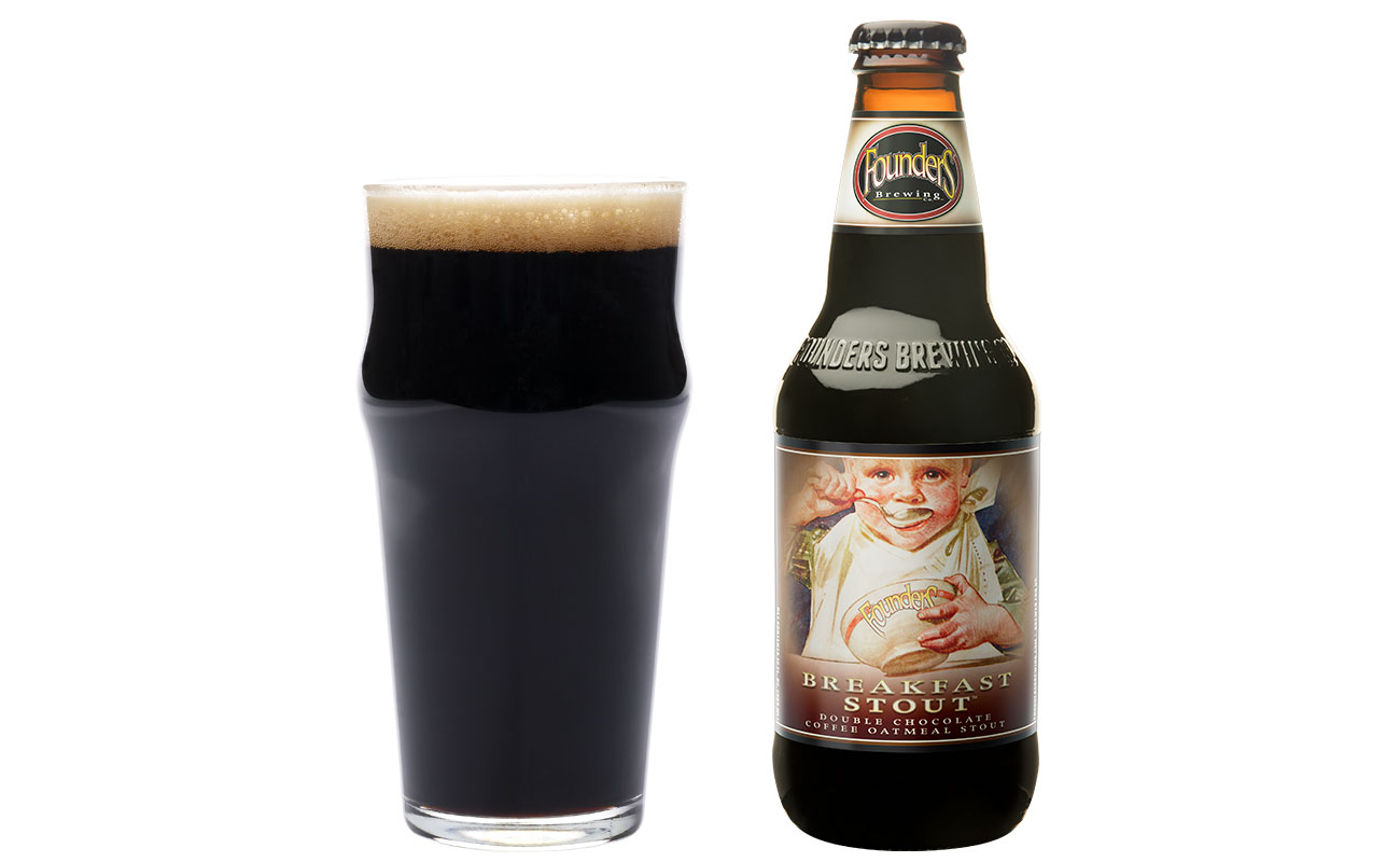 Founder´s Breakfast Stout is brewed with both chocolate and coffee - a solid choice for that first beer of the day.