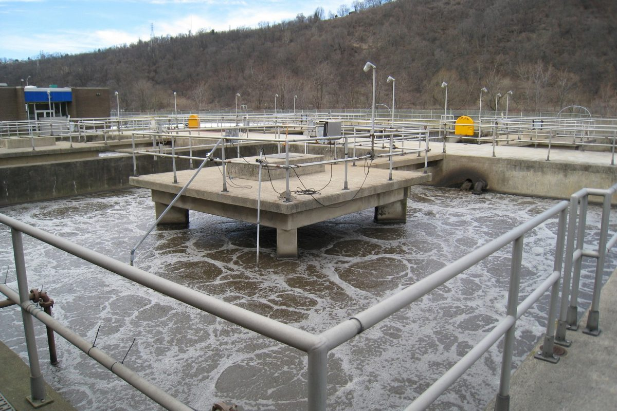 A file photo of a Pennsylvania wastewater treatment plant.