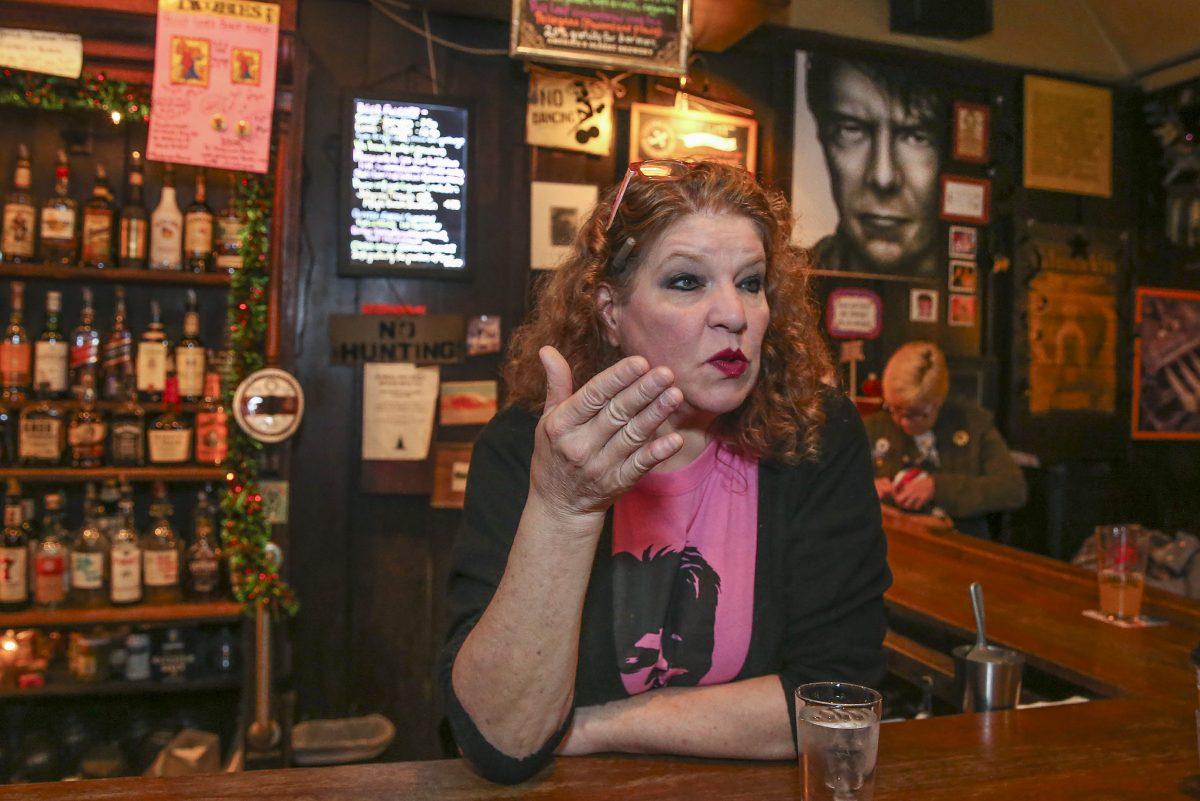 Doobies owner and David Bowie superfan Patti Brett.