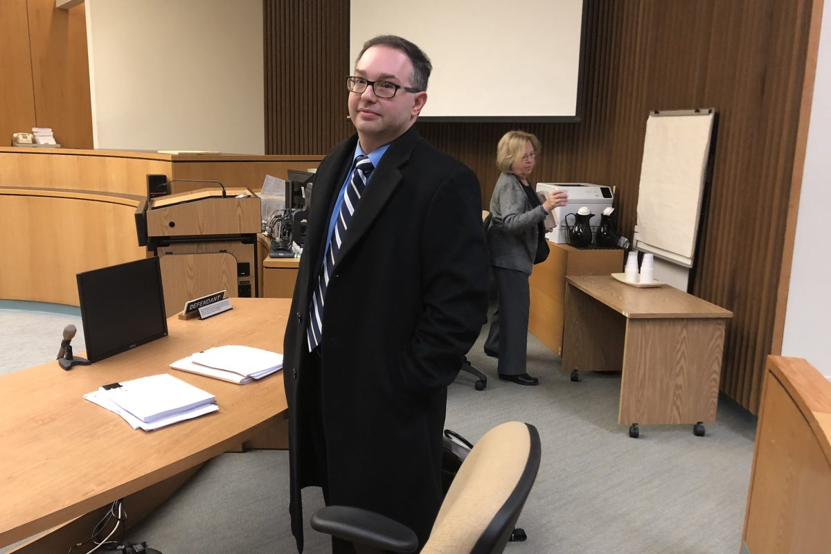 Ron Israel, an attorney with the law firm of Chiesa, Shahinian and Giantomasi, at a court hearing in which the state was seeking permission to cut Atlantic City fire fighters salaries 11.3 percent. Israel´s share of the $4 million in billings by the West Orange law firm running Atlantic City for the state topped $300,000.