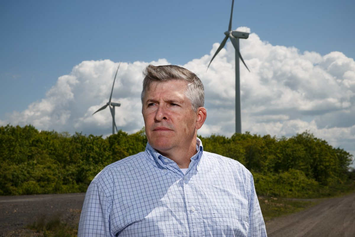 Adam Rousselle hopes wind turbines will supply power for his proposed  pumped storage facilities.