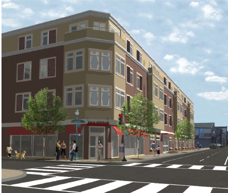 A 50-unit senior complex is slated for construction at 2nd and Indiana. El Encampamento, which runs adjacent to the property, will be paved over for a parking lot.