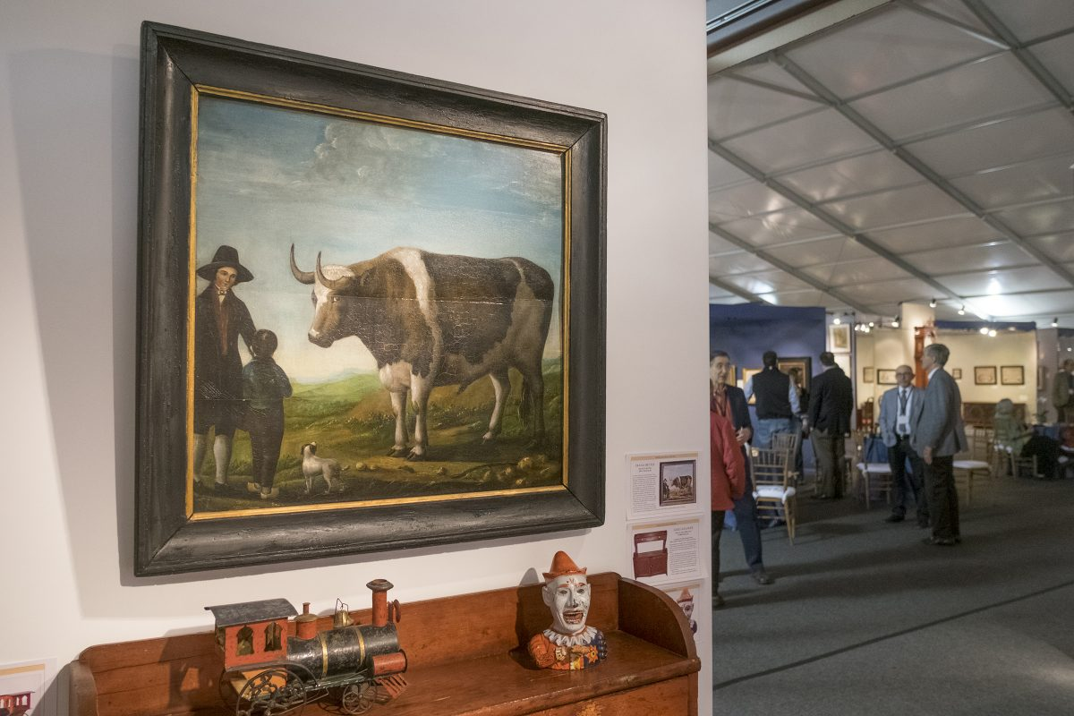A scene from the 2016 Philadelphia Antiques and Art show at the Navy Yard.