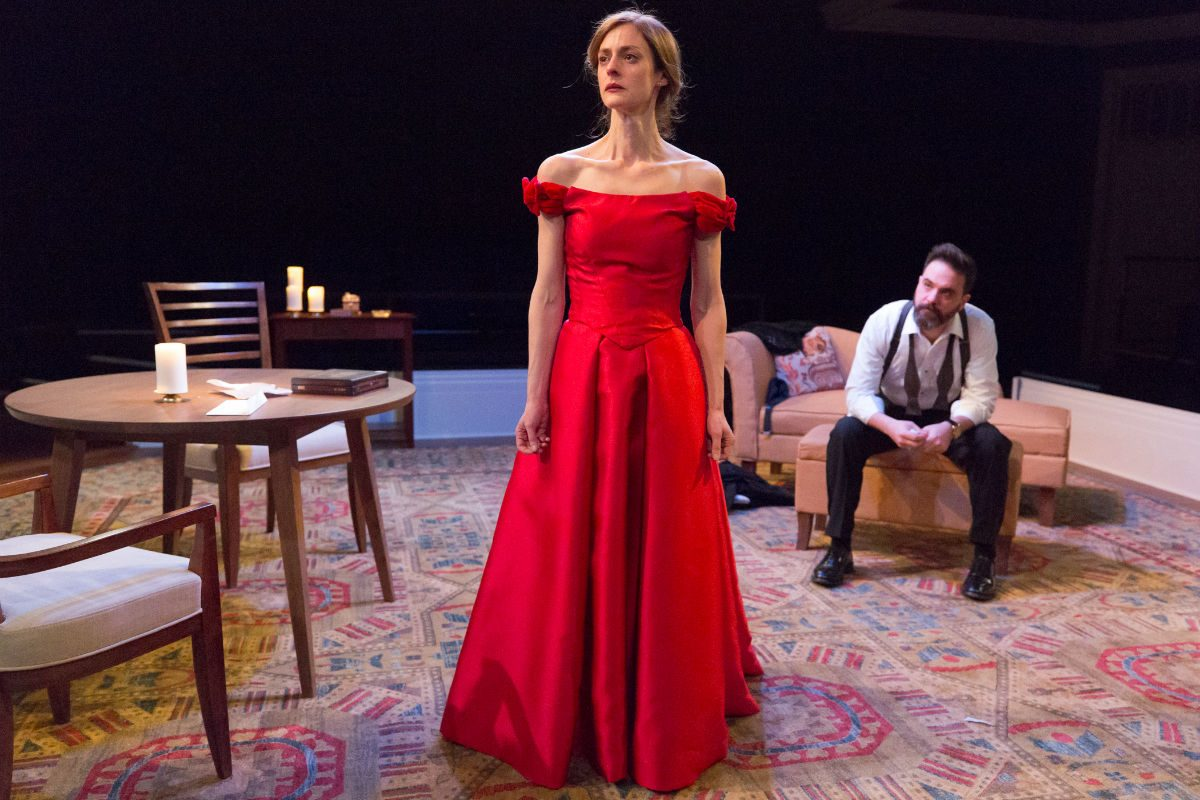 "Katharine Powell as Nora and Cody Nickell as Torvald in ""A Doll's House"" at Arden Theatre Company, part of Philly Theatre Week."