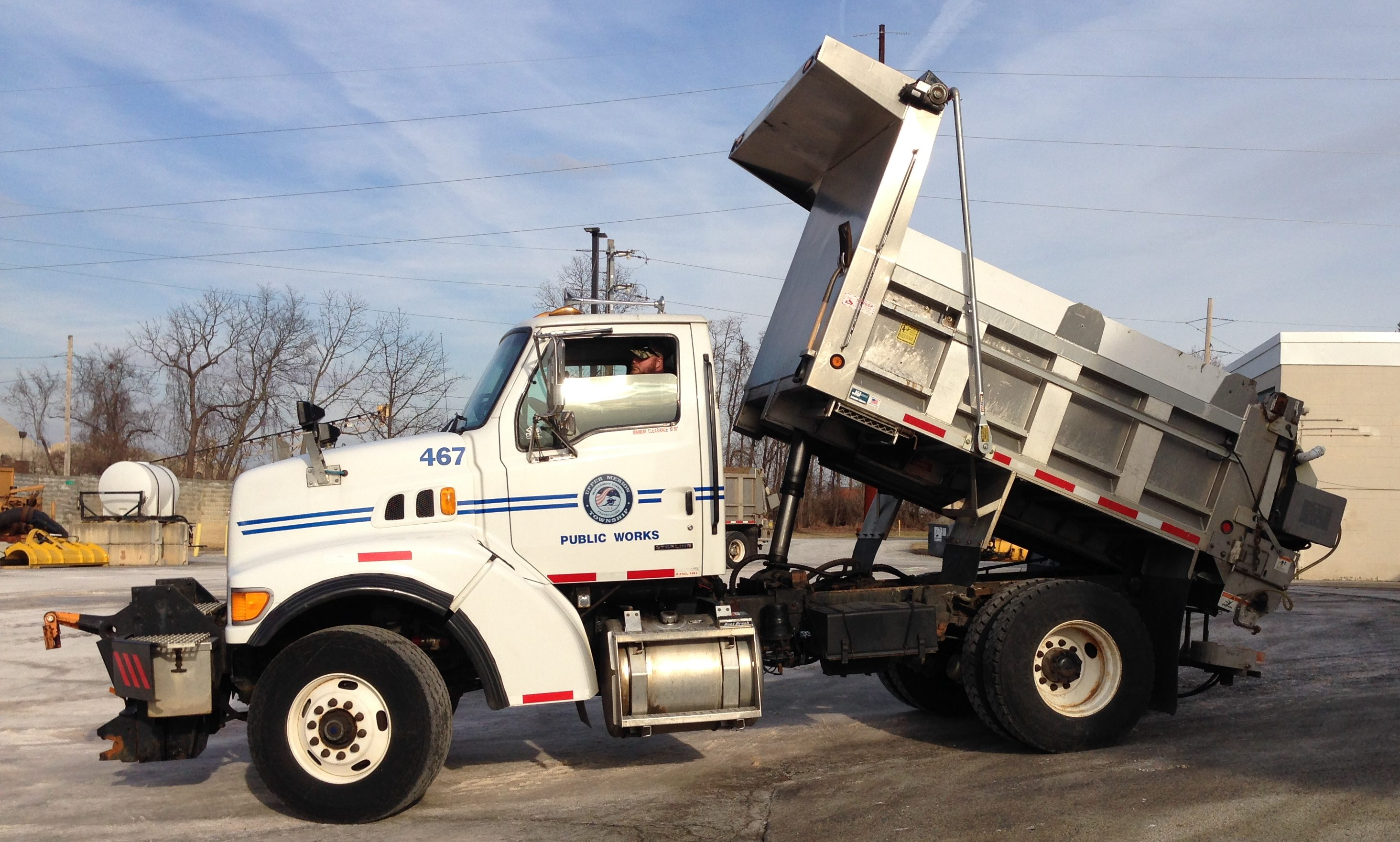 Upper Merion Township´s Public Works Department readies for the snow on January 16, 2018. The township is one of 94 municipalities PennDOT pays to plow state roads.