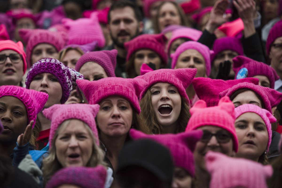 Crowds gather for the Women's March on Washington on January 21, 2017 in Washington, D.C.