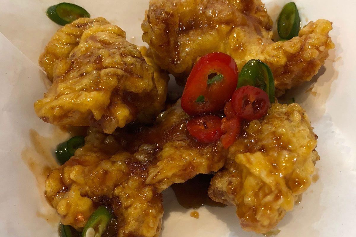 Gang-jeong chicken from bbq Chicken, 928 Race St.