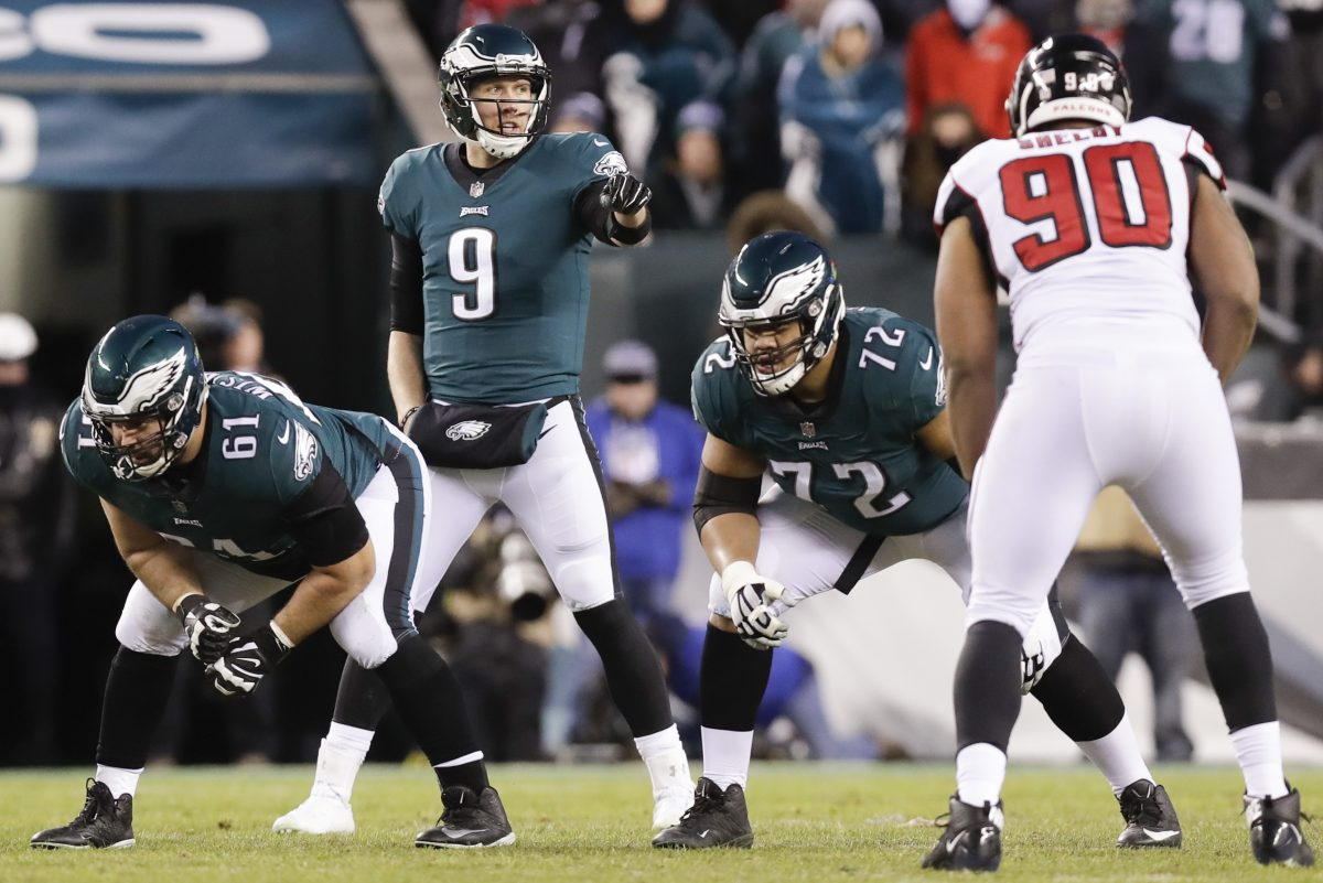 The film shows Eagles quarterback Nick Foles pointed the way to the win over Atlanta.