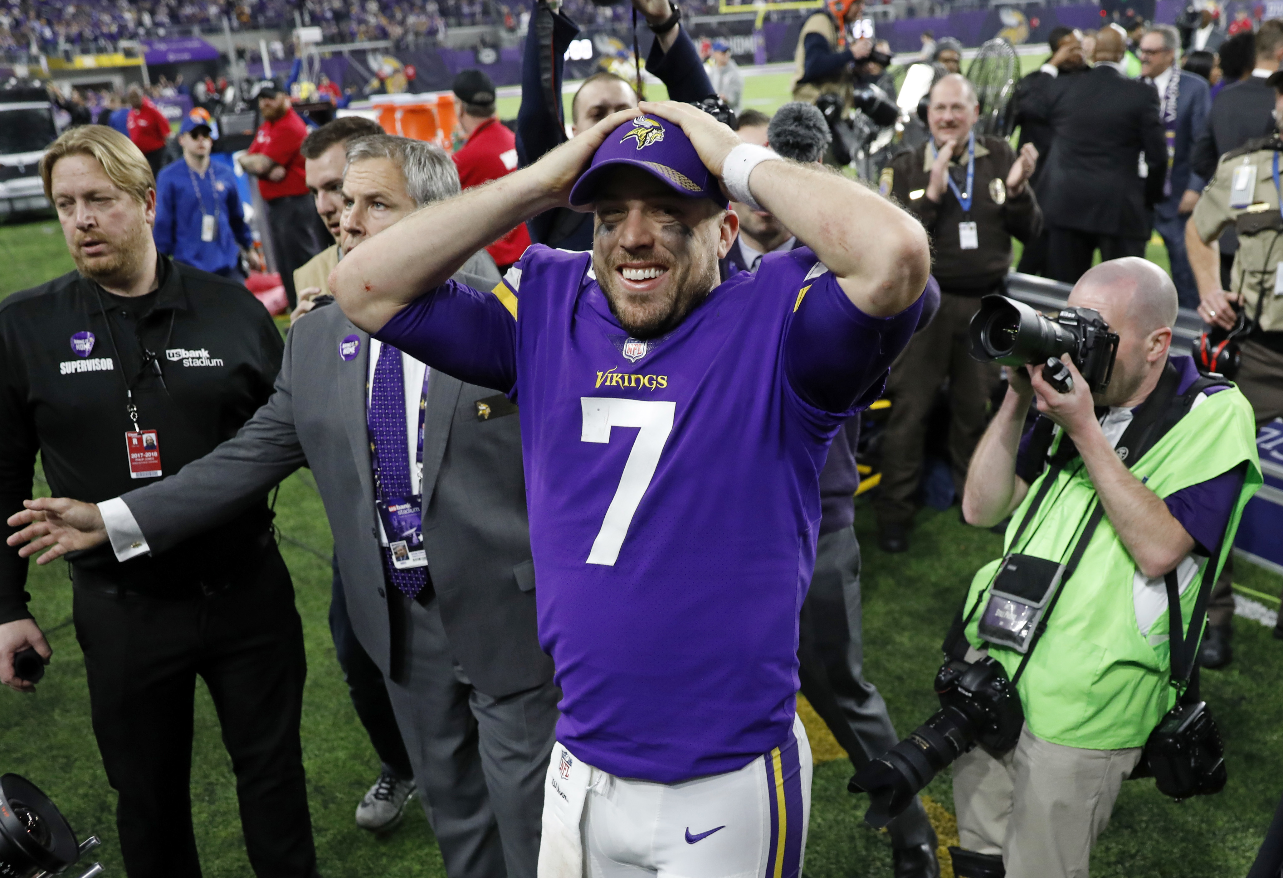 Vikings quarterback Case Keenum had a hard time believing how the win over the Saints last week ended.
