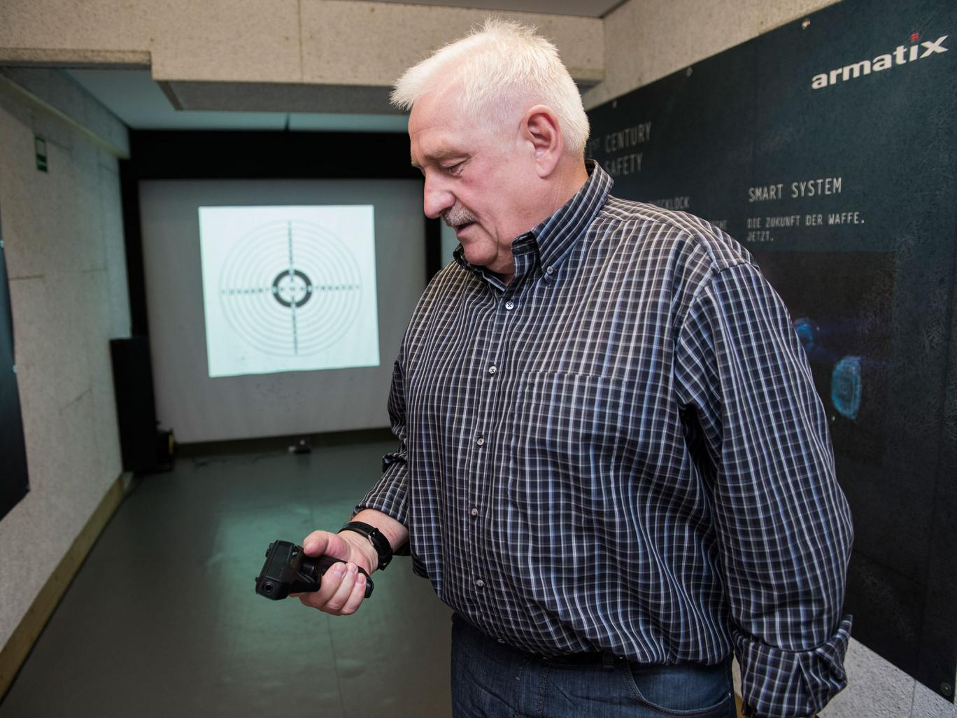 Ernst Mauch, legendary German firearm developer, left the famed Heckler & Koch gun manufacturer and is now working with a Radnor, Pa.-based startup called LodeStar Firearms to invent a smartgun made in the U.S. (Credit: LodeStar)