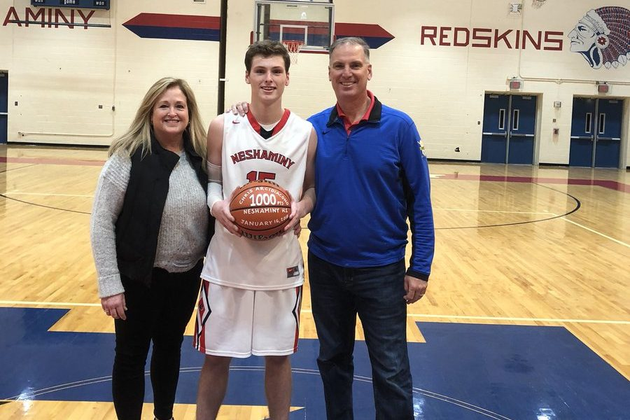 Neshaminy guard Chris Arcidiacono, the younger brother of former Villanova star Ryan Arcidiacono, reached 1,000 career points on Tuesday.