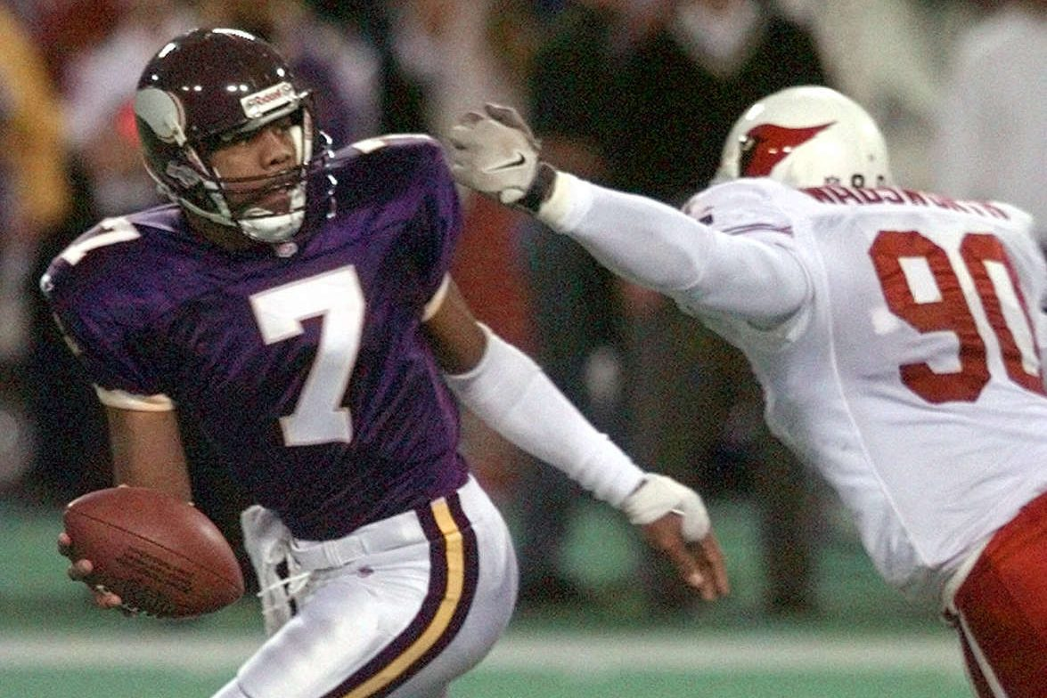 Former Eagles' quarterback Randall Cunningham was lured out of retirement to play for the Vikings, and put together a historic season.