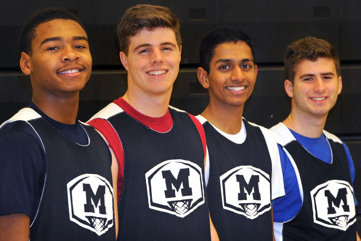 Moorestown´s multi-sport athletes, from left: Nick Cartwright-Atkins, Brian McMonagle, Akhil Giri and Vinnie Caprarola.