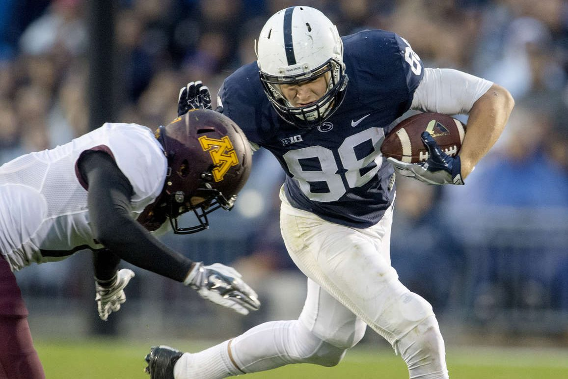 Penn State tight end Mike Gesicki will play in the Senior Bowl this month.