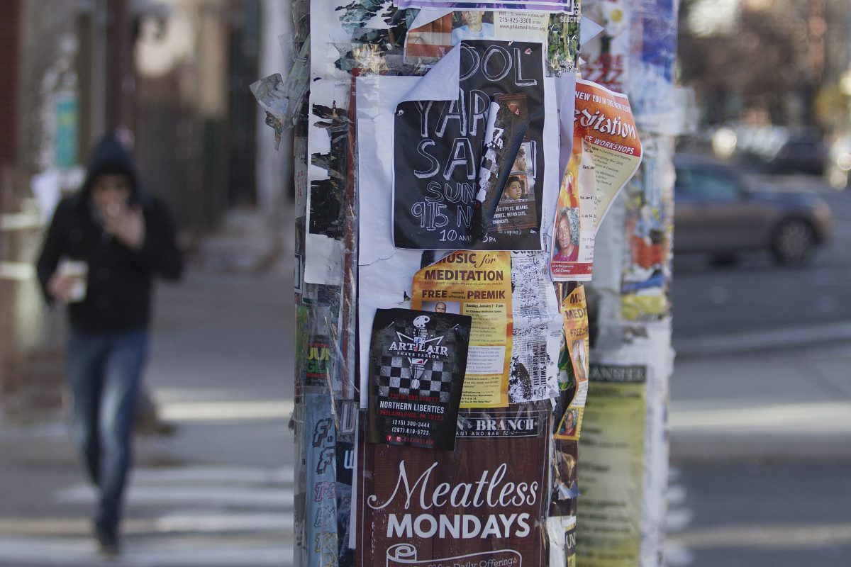 Drop that poster! Philly tocrack down on illegal fliers on poles
