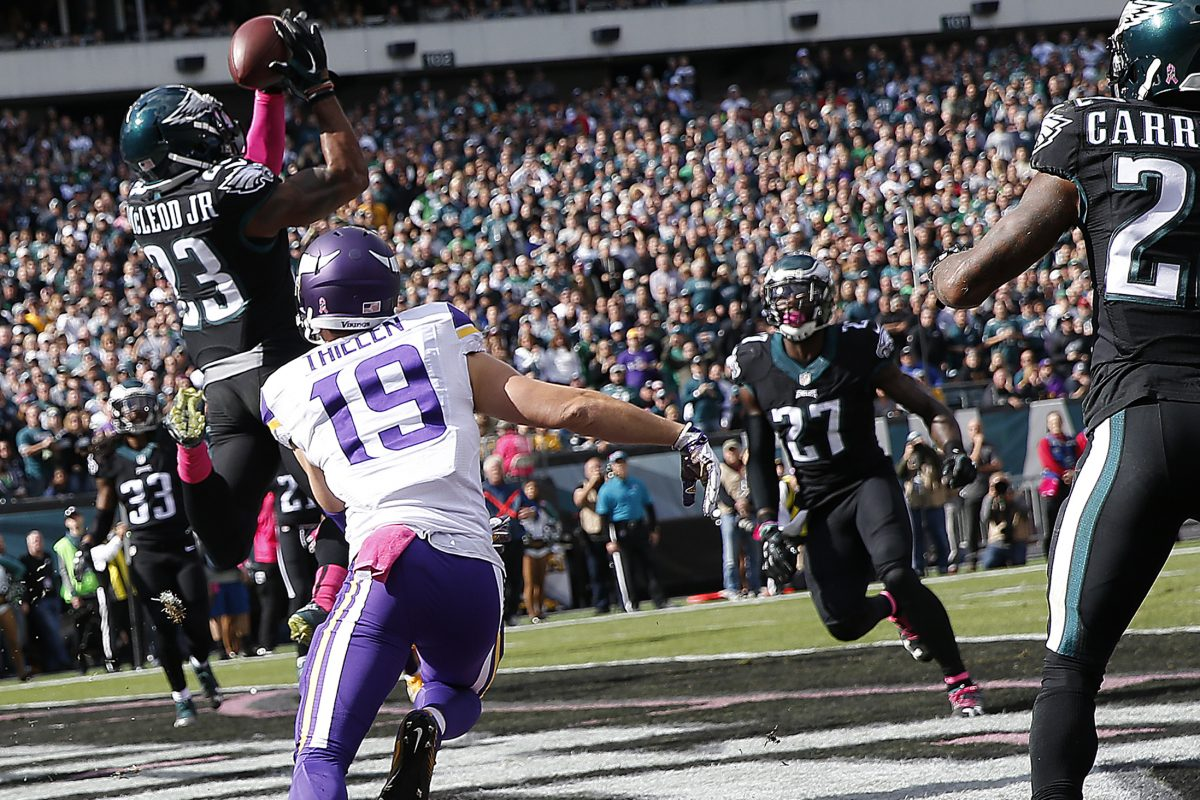 This is what the Eagles hope will happen in the NFC championship game Sunday, against a steady Vikings passing attack