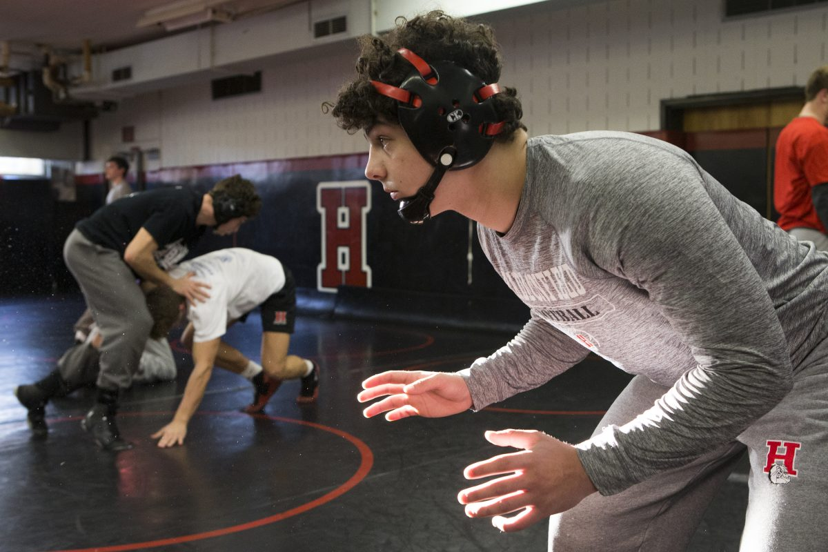 Haddonfield senior wrestler Chris Bolletino
