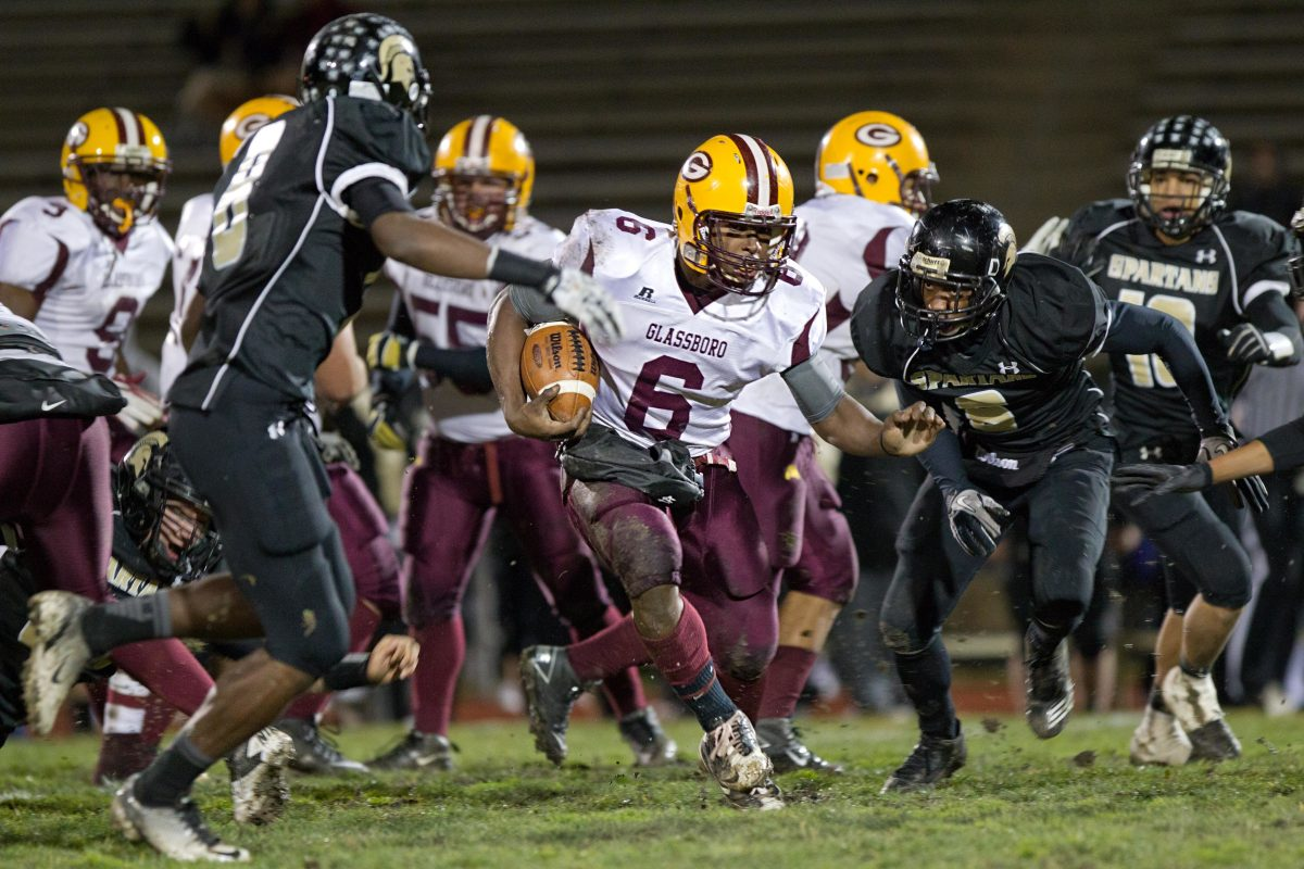 Corey Clement, then at Glassboro High, finds a hole in the Deptford defense in November 2011.