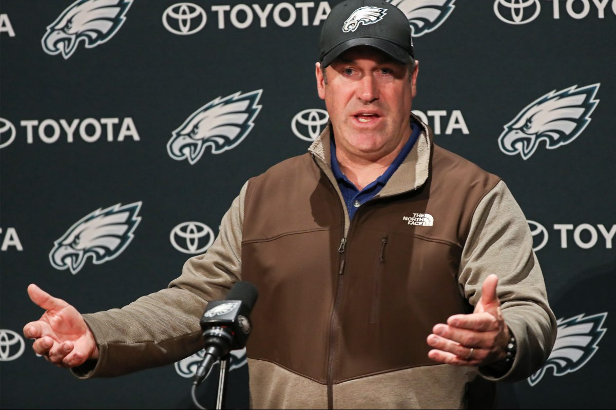 Doug Pederson said he just went home to be with family after Sunday´s game.