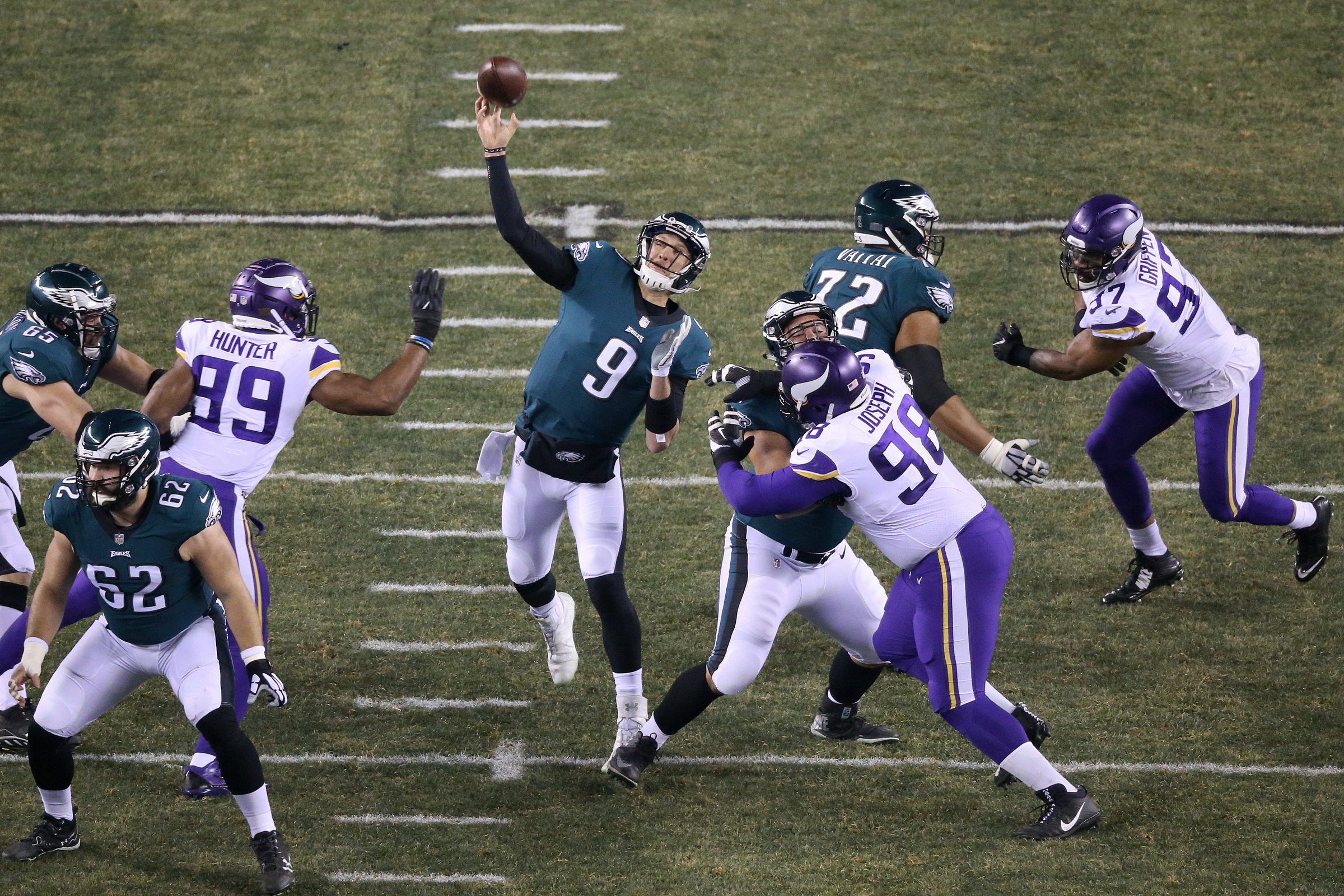 Nick Foles will become the third Eagles quarterback to start a Super Bowl -- and easily the most unlikely. TIM TAI / Staff Photographer