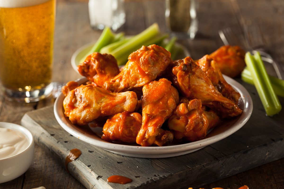 Buffalo wings are the Number One most Googled Super Bowl recipe in New Jersey.