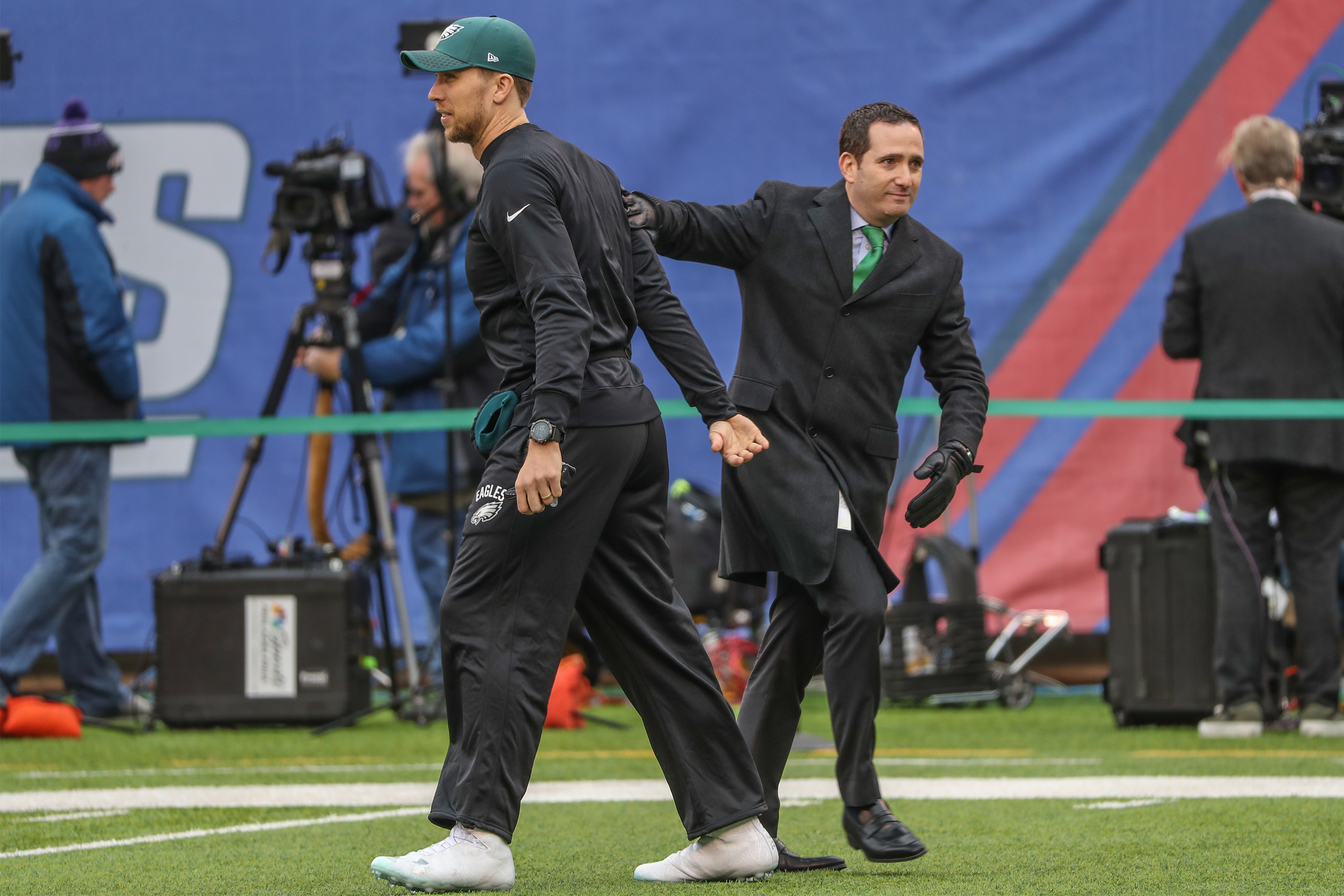 Howie Roseman and Nick Foles.