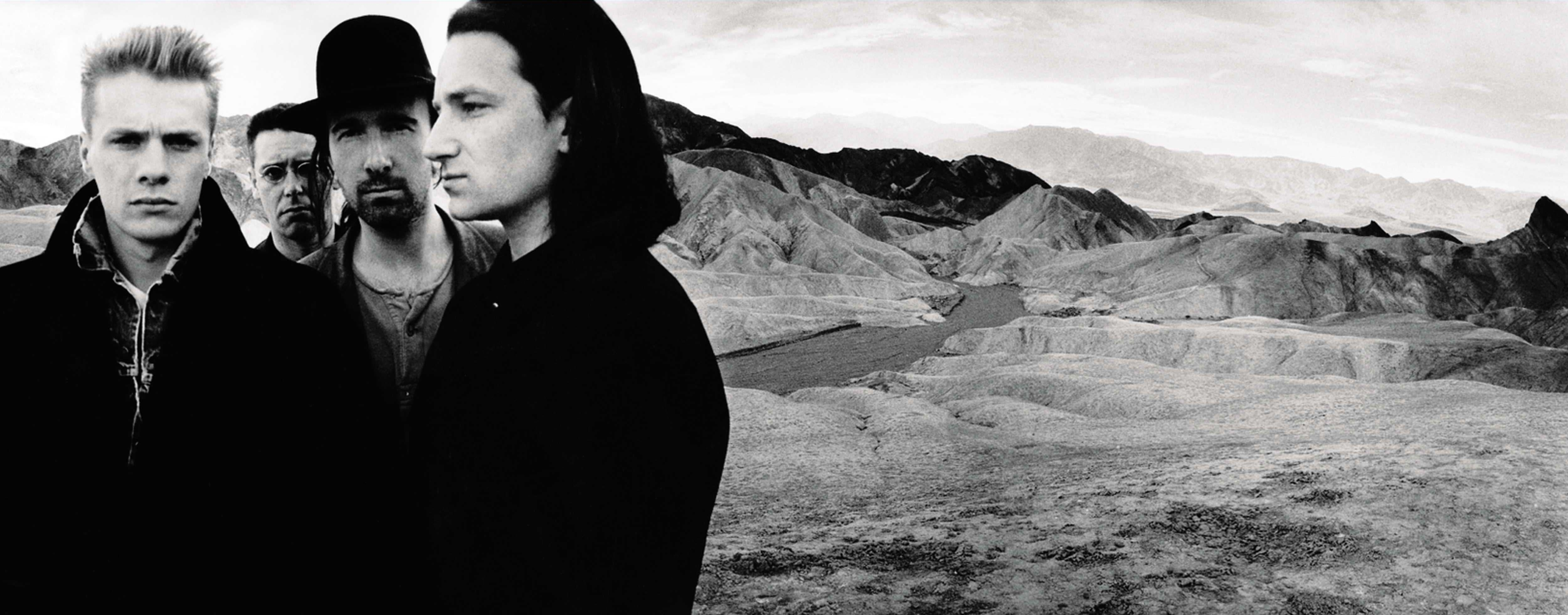 "U2, cover image for 1987´s ""The Joshua Tree"": From left: Adam Clayton, Larry Mullen, The Edge, and Bono."
