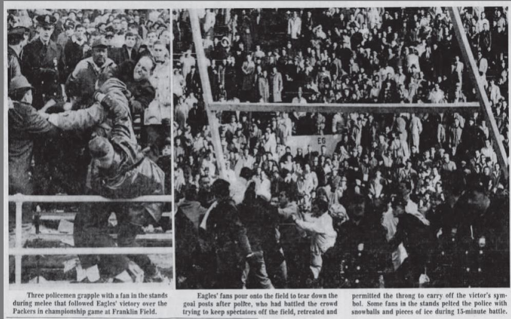 Inquirer file photos of the Eagles 1960 National Football League championship game.