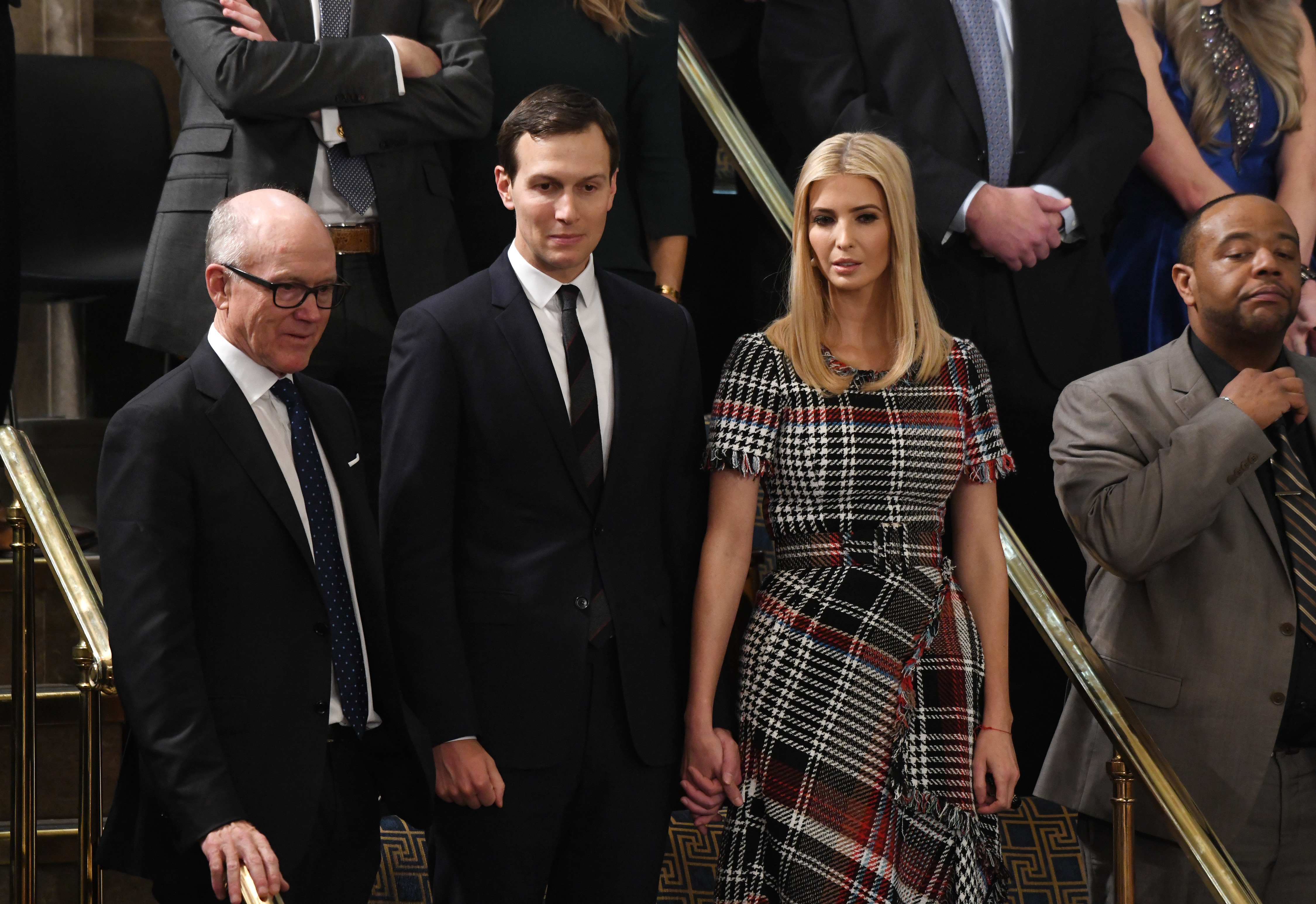 Jared Kushner and Ivanka Trump attend the State of the Union address before a joint session of Congress on Capitol Hill.