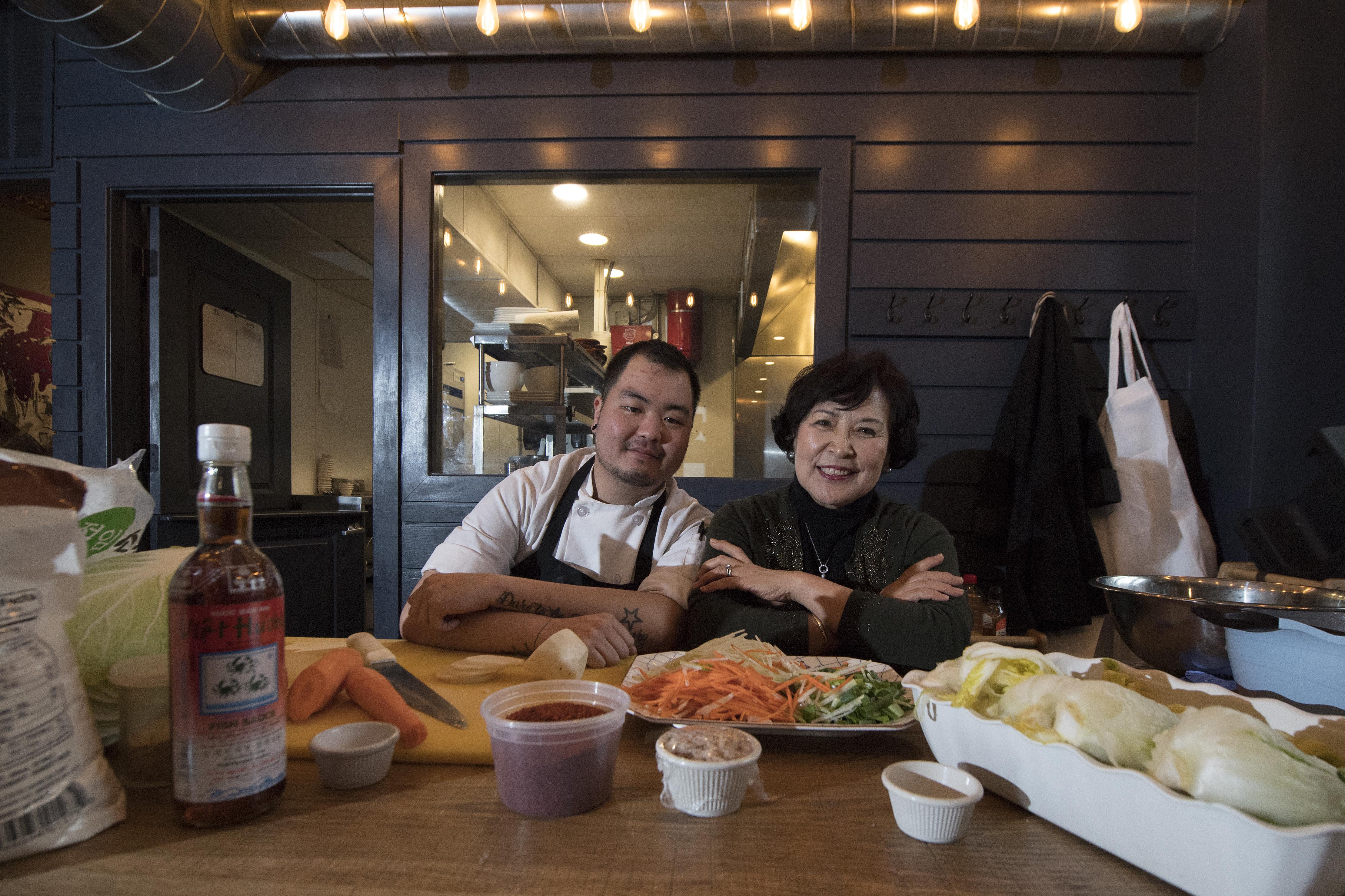 Chef Matt Delatour and Hyun Hwang at SouthGate.