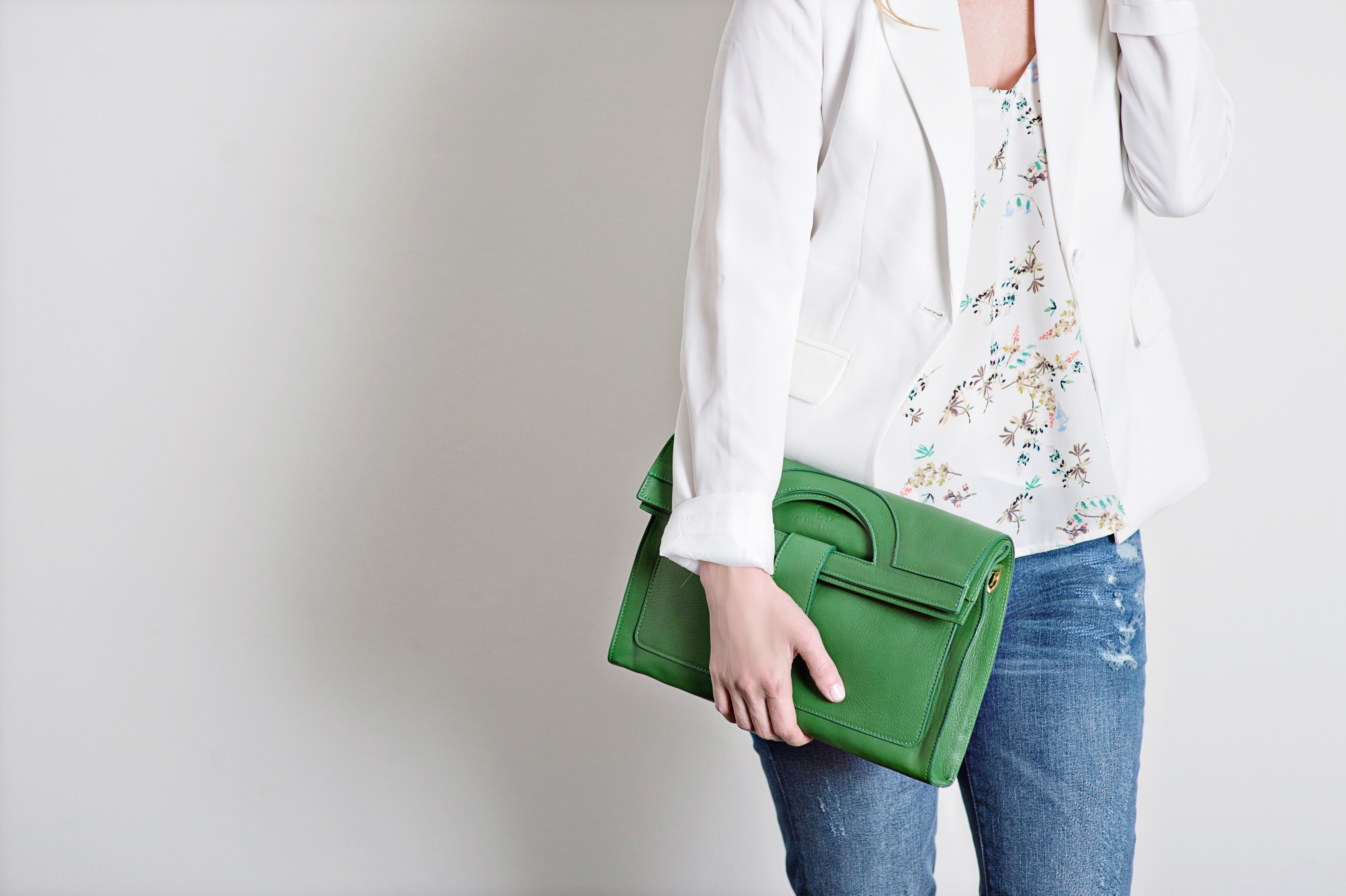 Wynnewood-based designer, Maddalena Palermo´s Madda & Co. clutch is the perfect Super Bowl to spring transition piece.