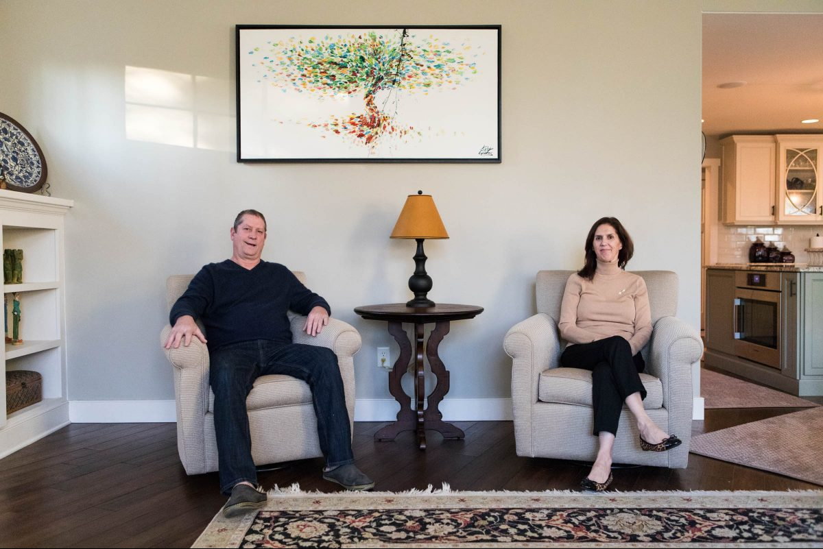 Lisa and Allan Root sold a large home in Worcester and renovated a two-story brick bungalow in Lower Gwynedd.