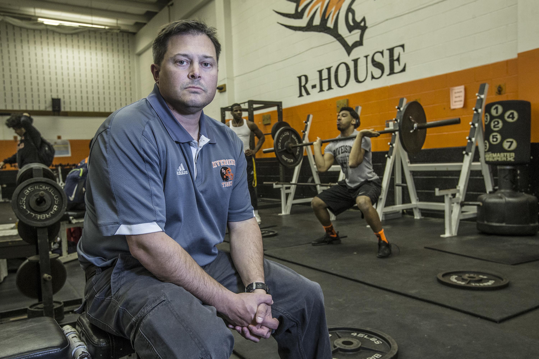 Riverside University High School head football coach Pat Wagner Brandon Brooks for four years.