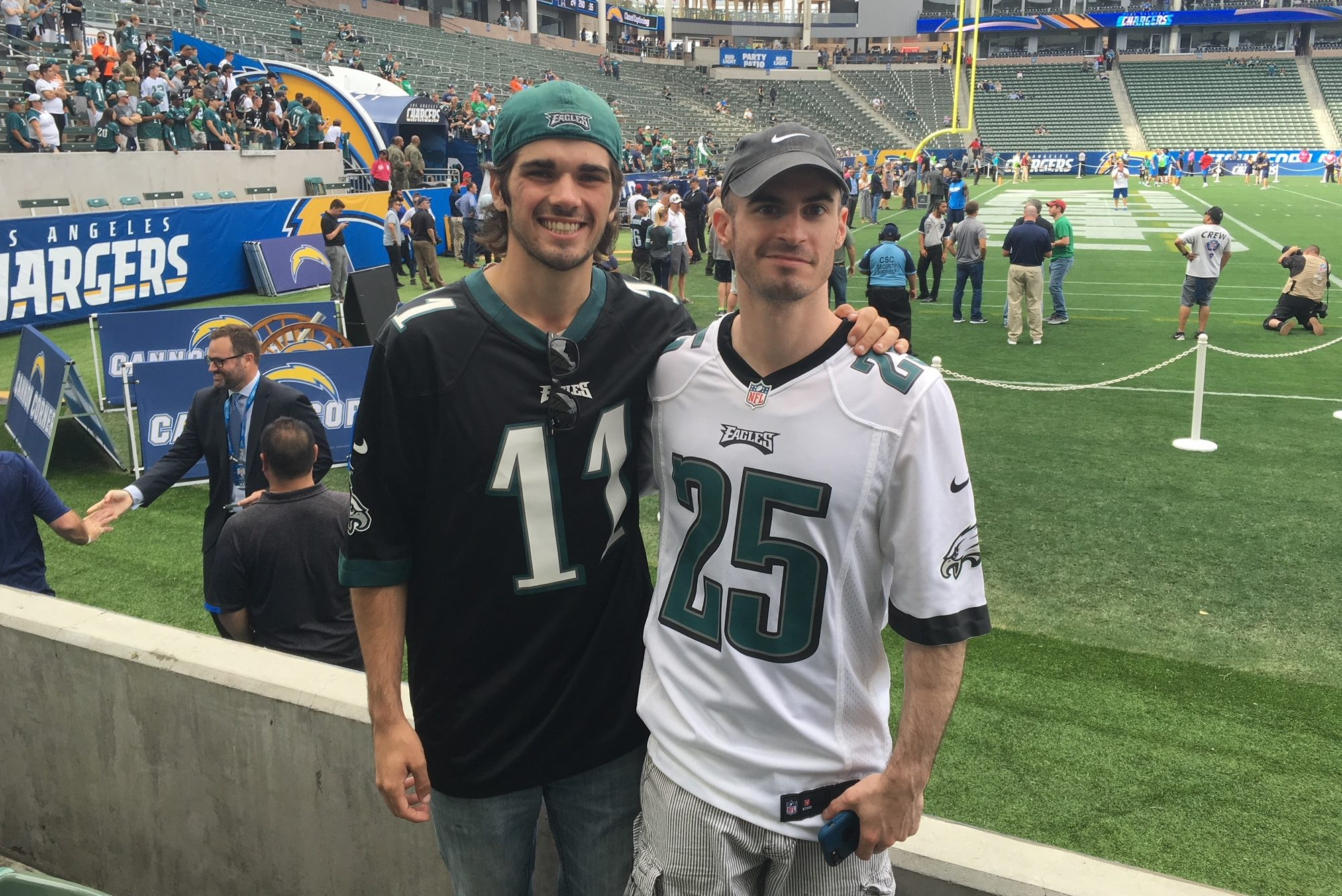 Andrew Immordino, 24, on left, and his brother, Scott Mantz, 31, were best friends and die-hard Eagles fans. Mantz died of a heart attack on New Year´s Eve. Immordino will bring his brother´s ashes to the Super Bowl as his final send-off.