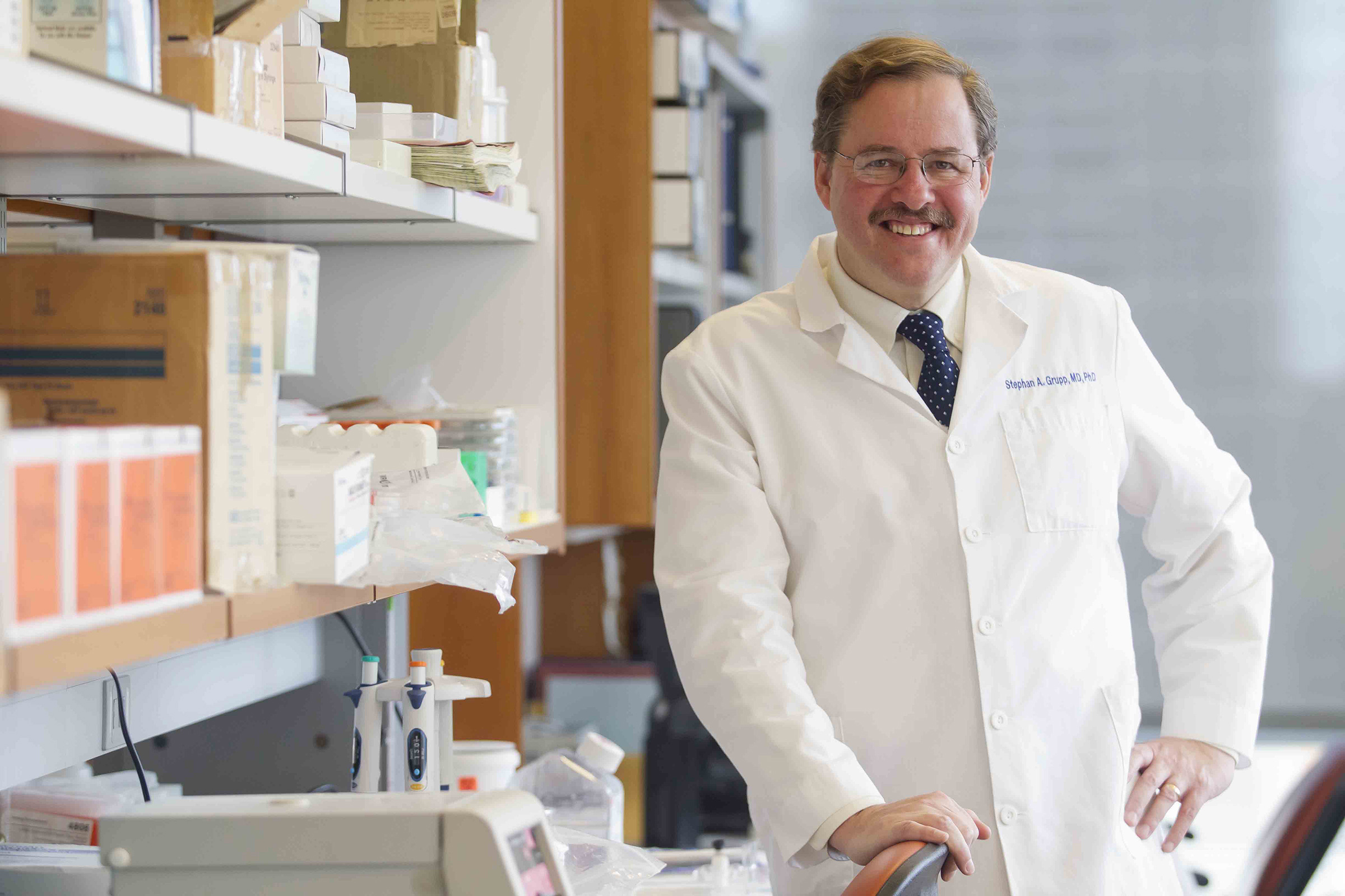 CHOP oncologist Stephan Grupp has led clinical trials of the first approved CAR T cell therapy
