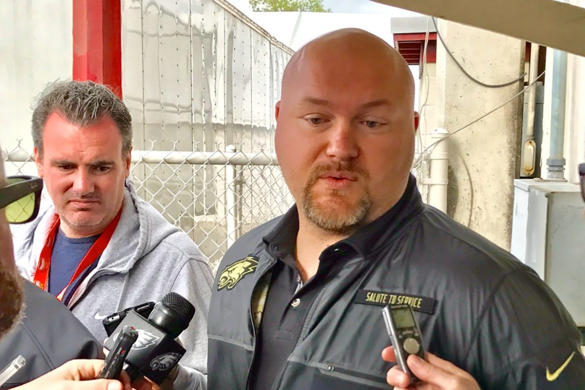 Joe Douglas, Eagles vice president of player personnel.