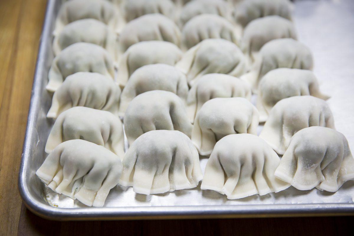 Raw dumplings at Nom Wah Tea Parlor in Philadelphia's Chinatown.